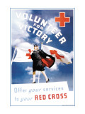 Volunteer for Victory: Offer Your Services to Your Red Cross Wall Decal by Toni Frissell