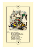 Little Lily's Alphabet: Winter is Everywhere Wall Decal by Oscar Pletsch