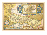Map of Middle East Wall Decal by Abraham Ortelius