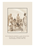 The Mahratta Peshwa and His Ministers at Poonah Wall Decal by Baron De Montalemert