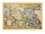 Map of Greece Wall Decal by Abraham Ortelius