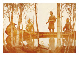 Mohicans Wall Decal by Newell Convers Wyeth