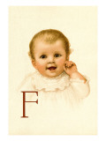 Baby Face F Wall Decal by Dorothy Waugh