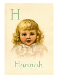 H for Hannah Wall Decal by Ida Waugh