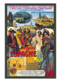 Voyages En Espagne Wall Decal by Milo Winter