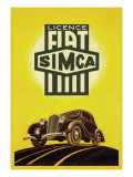 Licence Fiat Simca Wall Decal