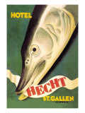 Hotel Hecht, St. Gallen Wall Decal by Charles Kuhn