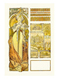 Austria: 1900 Wall Decal by Alphonse Mucha