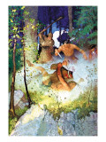 The Fight in the Forest Wall Decal by Newell Convers Wyeth