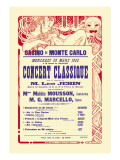 Concert at the Monte Carlo Casino Wall Decal by Alphonse Mucha