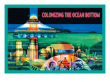 Colonizing the Ocean Bottom Wall Decal by Julian Krupa