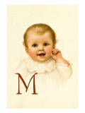 Baby Face M Wall Decal by Ida Waugh
