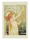 Absinthe Rebette Wall Decal by Privat Livemont