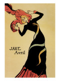 Jane Avril Wall Decal by Henri de Toulouse-Lautrec