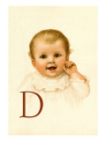 Baby Face D Wall Decal by Ida Waugh