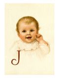 Baby Face J Wall Decal by Ida Waugh