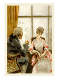 School for Scandal: An Enthralling Conversation Wall Decal by Lucius Rossi