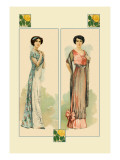 Women Posing in Their New Dresses Wall Decal