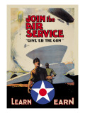 Join the Air Service: Give 'Er the Gun Wall Decal by Keith