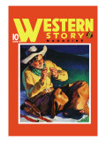 Western Story Magazine: by the Fire Wall Decal