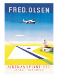 Fred. Olsen Air Transport Ltd. Oslo Wall Decal