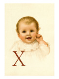 Baby Face X Wall Decal by Dorothy Waugh