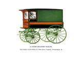 Store Delivery Wagon Wall Decal