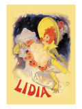 Lidia Wall Decal by Jules Chéret