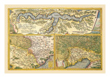 Maps of Rome Wall Decal by Abraham Ortelius