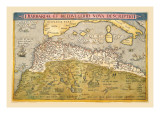 Map of Northern Africa Wall Decal by Abraham Ortelius