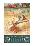 Osborne: Girl on Hay Wagon Veggoverføringsbilde