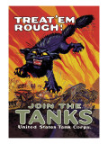 Treat 'Em Rough: Join the Tanks Wall Decal by Hutaf