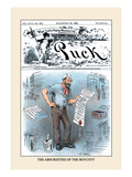 Puck Magazine: The Absurdities of the Boycott Wall Decal by Frederick Burr Opper