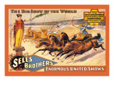 Ben Hur Chariot Races: Sells Brothers' Enormous United Shows Wall Decal