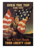 Over the Top for You, Third Liberty Loan Wall Decal by Reisenberg