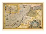Map of Northwestern Africa Wall Decal by Abraham Ortelius