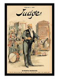 Judge Magazine: The Presidential Prestidigitateur Wall Decal by Grant Hamilton