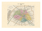 Paris, Capitale de la France Wall Decal by Alexandre Vuillemin