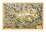 Map of Iceland Wall Decal by Abraham Ortelius
