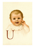 Baby Face U Wall Decal by Ida Waugh