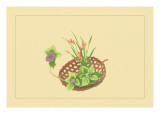 Hydrangea and Daylily Wall Decal by Sofu Teshigahara