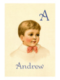 A for Andrew Wall Decal by Ida Waugh