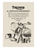 Triumph of Effortless Performance Wall Decal