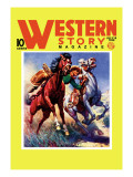 Western Story Magazine: Taming the Wild Wall Decal