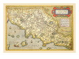 Map of Italian Coast above Rome Wall Decal by Abraham Ortelius
