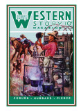 Western Story Magazine: Supper Time Wall Decal by Walter Kaskell Kinton