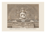 Sculpture in a Hindu Temple Wall Decal by Baron De Montalemert