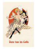 Dans Tous les Cafes: Quinquina Dubonnet Wall Decal by Jules Chéret