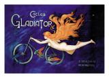 Reklame for Gladiator-cykler, på fransk Wallstickers