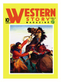 Western Story Magazine: She Ruled the West Wall Decal